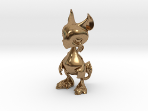 Baby Gryphon figurine 60mm in Natural Brass