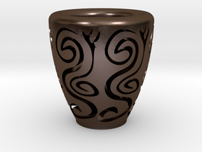 Orient coffee cup in Polished Bronze Steel