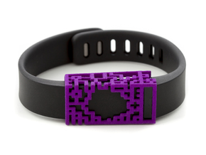 Plastic Lucas slide for Fitbit Flex in Purple Strong & Flexible Polished