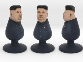 Kim Jong Un the North Korea Plug in Full Color Sandstone