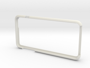 IPhone6 Plus Open Style Bumper  in White Natural Versatile Plastic