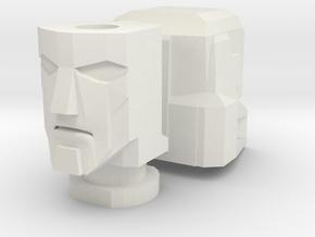 Gen. Windcharger/Decepticharge Head in White Natural Versatile Plastic