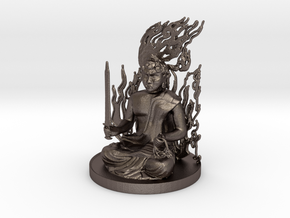 Fudo Myoo in Polished Bronzed Silver Steel