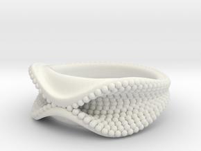 Ursula Ring in White Natural Versatile Plastic