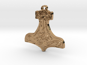 Thor's Hammer - Mjölnir in Polished Brass