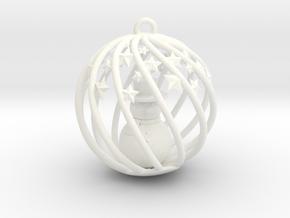 Snowman Christmas Bulb Stars in White Processed Versatile Plastic