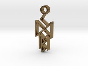 Runes of victory in Natural Bronze