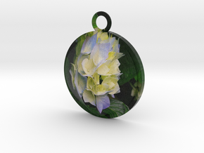 Flower Pendant Full Color by Space 3D in Full Color Sandstone