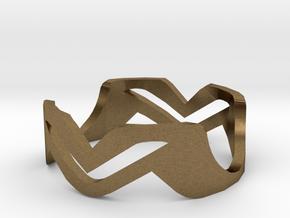 Ring MV in Natural Bronze