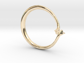Cygnus Olor Swan Ring in 14K Yellow Gold