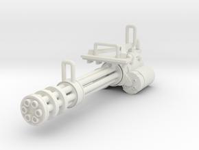 Gatling gun in White Natural Versatile Plastic