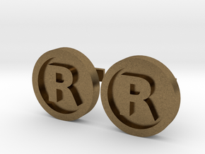Registered Trademark Logo Cuff Links in Natural Bronze