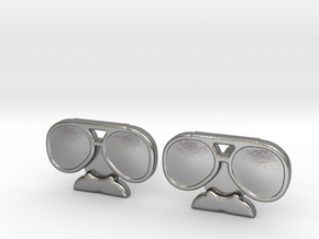 Da Coach Cufflinks - version 2 in Natural Silver
