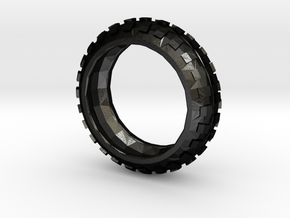 Motorcycle/Dirt Bike/Scrambler Tire Ring Size 10 in Matte Black Steel