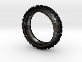 Motorcycle/Dirt Bike/Scrambler Tire Ring Size 13 in Matte Black Steel
