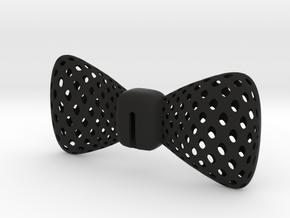 Bowtie Round ALUMO in Black Natural Versatile Plastic