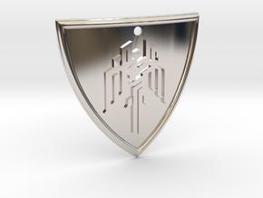 Dragon Age Shield in Platinum