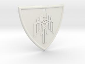 Dragon Age Shield in White Natural Versatile Plastic