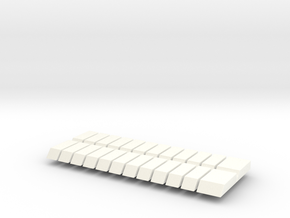 Set of 24 JP Piano Keys in White Processed Versatile Plastic