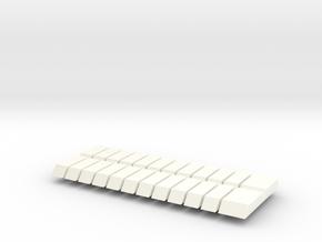 Set of 24 JP Piano Keys in White Processed Versatile Plastic