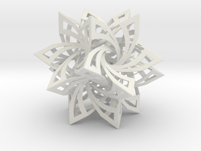 Star Frabjous Dodecahedron Structure Lite in White Natural Versatile Plastic