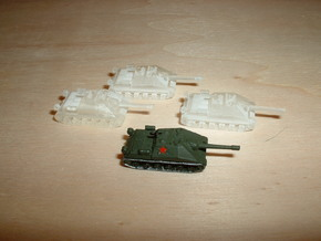 ISU-152 Object 704 Assault Gun 1/285 6mm in Smooth Fine Detail Plastic