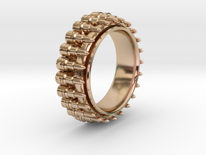 Bullet ring(size = USA 8,Japan 16, Britain P) in 14k Rose Gold