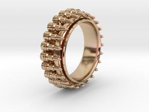 Bullet ring(size = USA 8,Japan 16, Britain P) in 14k Rose Gold