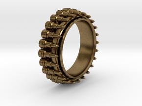 Bullet ring(size = USA 8,Japan 16, Britain P) in Natural Bronze