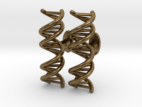 DNA Cufflink in Natural Bronze