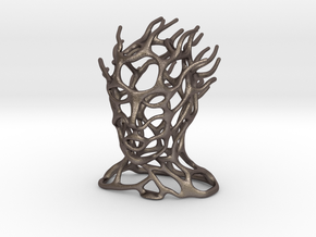 Fleeting Thoughts Sculpture in Polished Bronzed Silver Steel