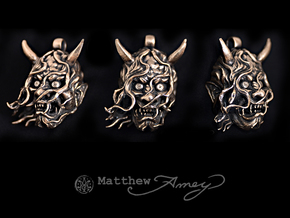Hannya version 2 in Raw Bronze