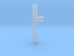 'N-Scale' - 10' Caged Ladder in Smooth Fine Detail Plastic