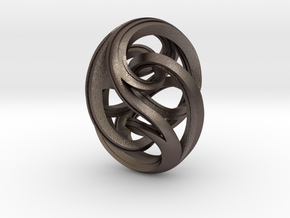 Noom in Polished Bronzed Silver Steel