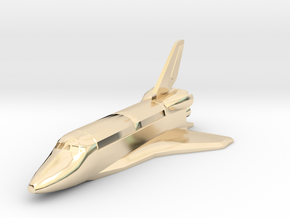 Space Shuttle spacecraft in 14K Yellow Gold