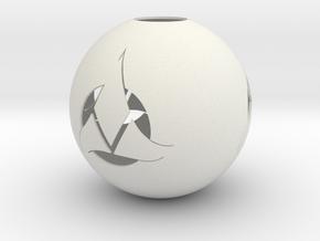 Klingon Ornament in White Natural Versatile Plastic