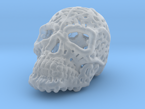 Filigree Sugar Skull Pendant 2 in Smooth Fine Detail Plastic