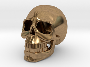 SKULL( install your order.) in Natural Brass