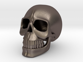 SKULL( install your order.) in Polished Bronzed Silver Steel