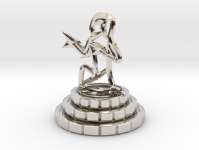 Pawn of chess in Platinum