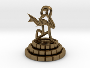 Pawn of chess in Natural Bronze