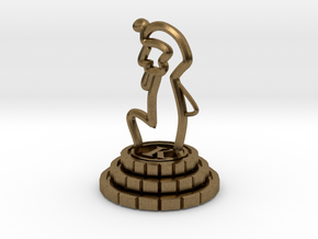 King of chess in Natural Bronze