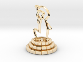 King of chess in 14K Yellow Gold