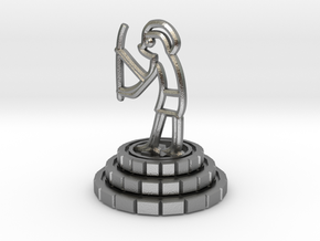 Knight of chess in Natural Silver