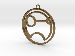 Tina - Necklace in Polished Bronze