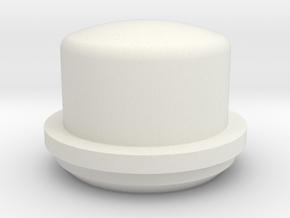 Gun Button MkI in White Natural Versatile Plastic