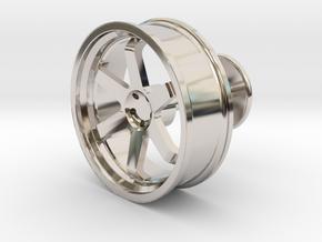 TE37 Wheel Cufflink in Platinum