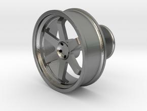 TE37 Wheel Cufflink in Natural Silver