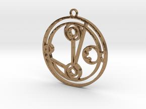 Melanie - Necklace in Natural Brass