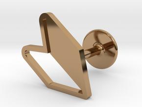 JDM Cufflink in Polished Brass